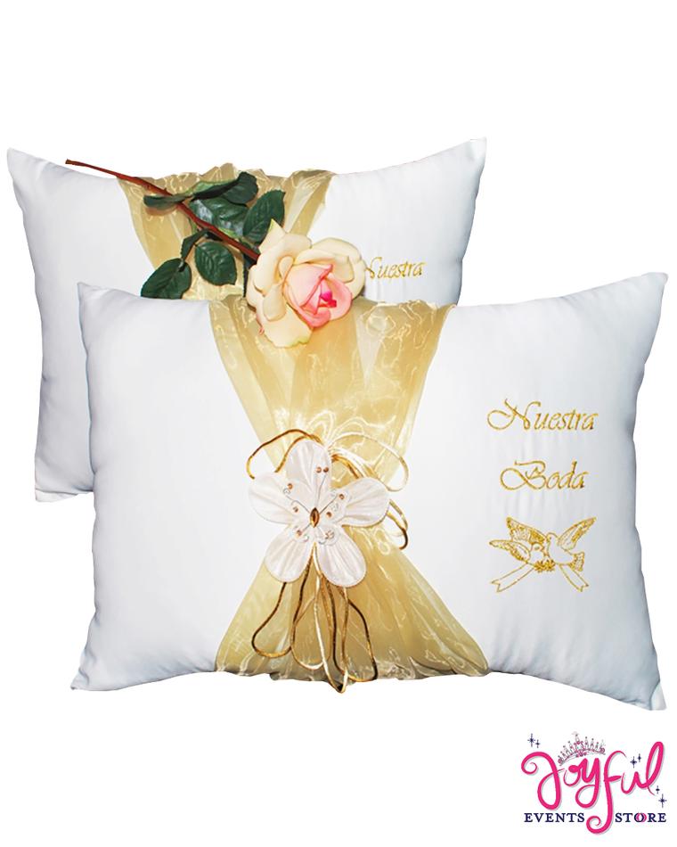 Butterfly Large Wedding Pillows - Cojines de Boda para Hincarse  #WKP1