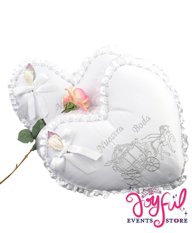 Fairy Tale Wedding Pillows Set - Cojines de Boda para Hincarse  #WSET5