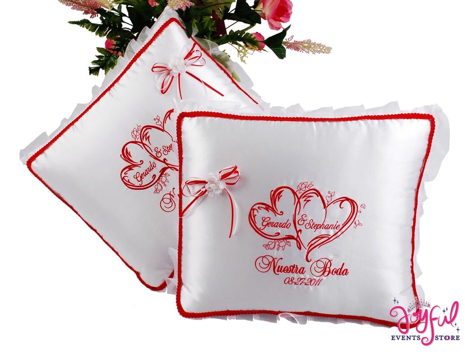 Wedding Kneeling Pillows - Cojines de Boda para Hincarse  #WSET11