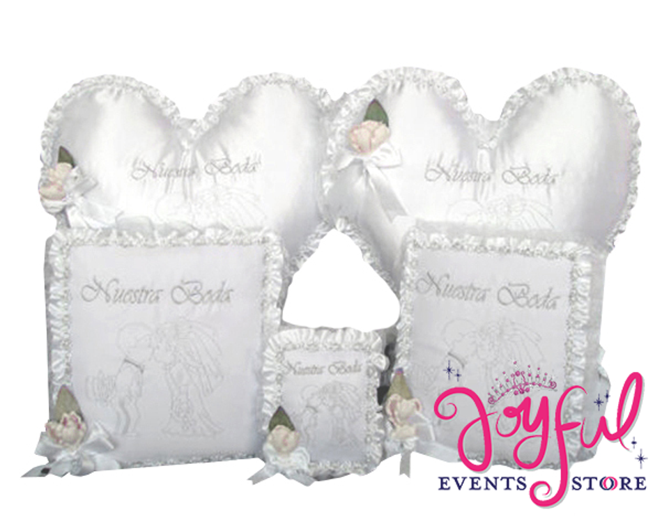 Wedding Accessories Pillows, Photo Album, Guest Book and Bible #WSET3