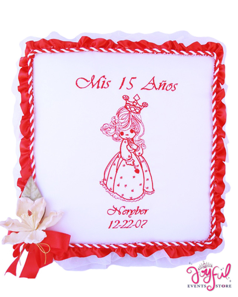 "12"" Quinceanera Princess Guest Book - One #PD1250"