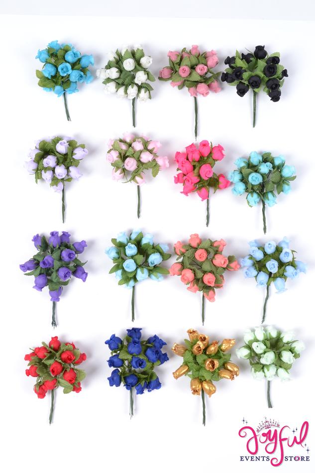 "3/4"" Mini Roses - 144 Flowers #FL5"