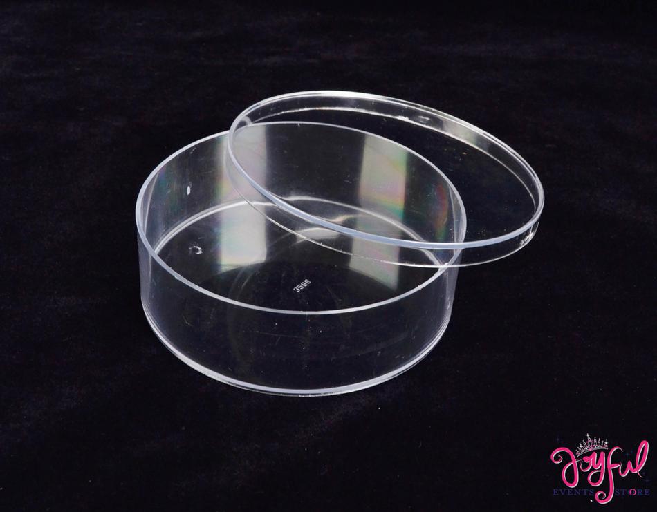 """4.5"""" Plastic Round Container - One  #PLBW1"""