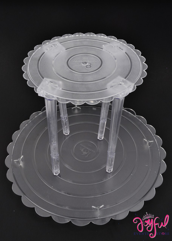 "8"" Clear Plastic Round Cake Base - One #RCB8"
