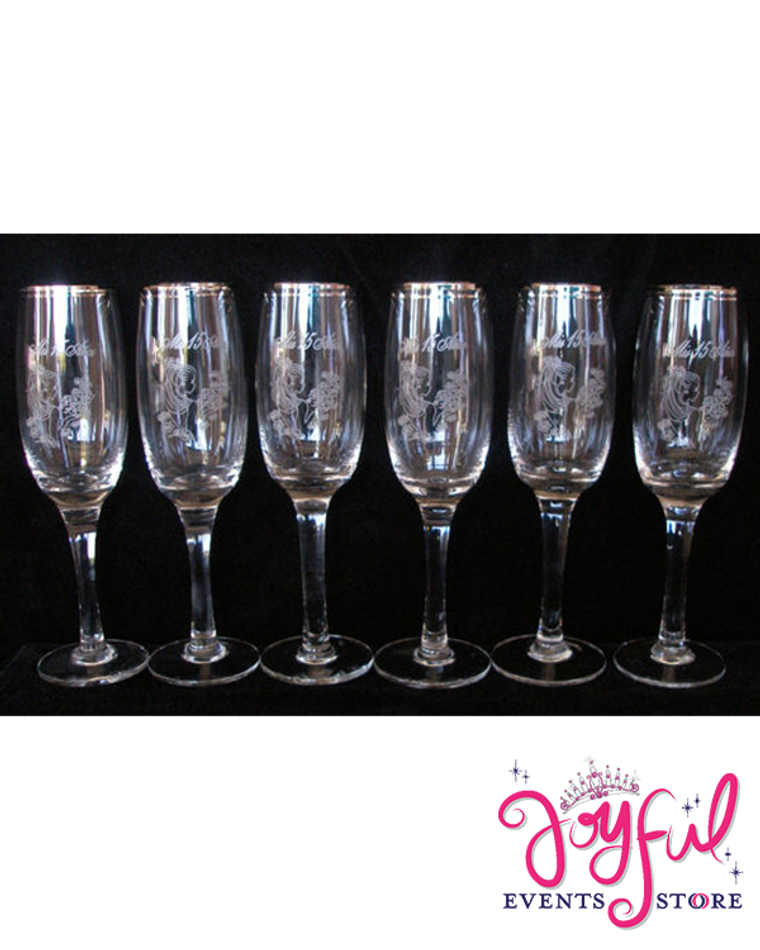 Quinceanera Toasting Goblets - 6 Goblets #TG3BX