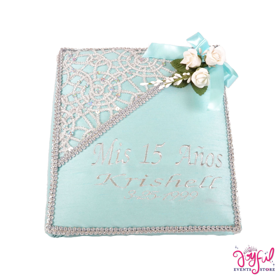 "12"" Shimmer Guest Book with Feather Pen - #GB20"