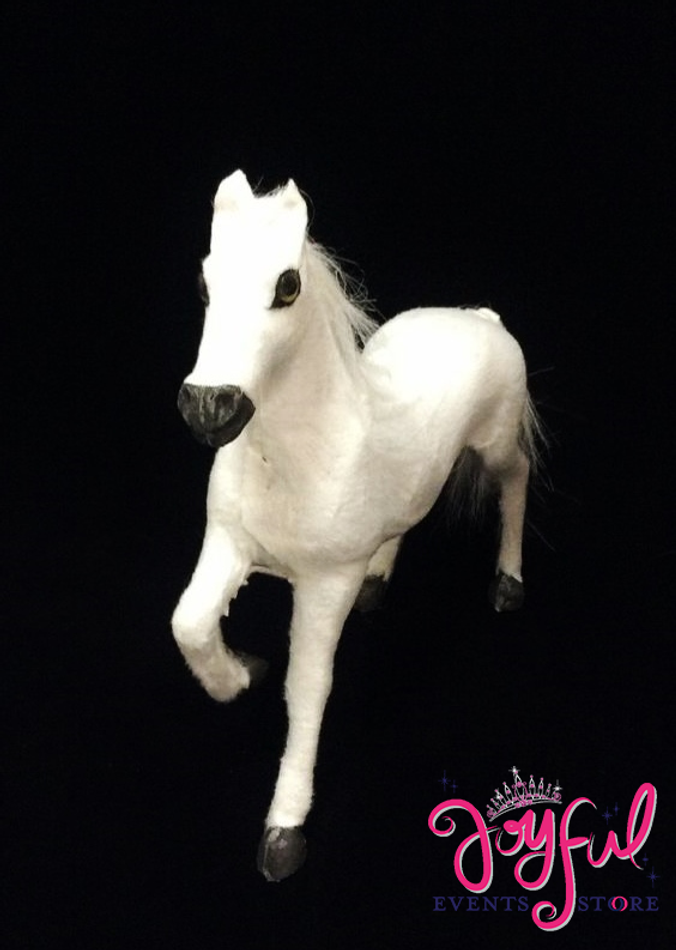 """8"""" White Plastic Horse - One  #HRSGR1"""