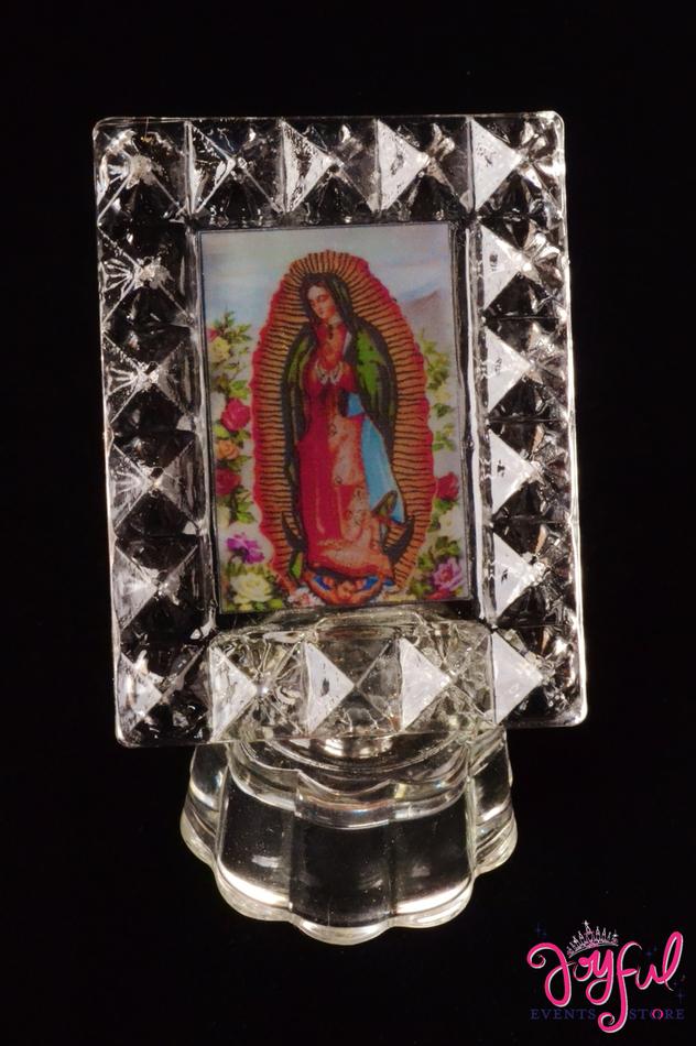 """3"""" Virgen de Guadalupe Lighted Favor - One #CF16"""