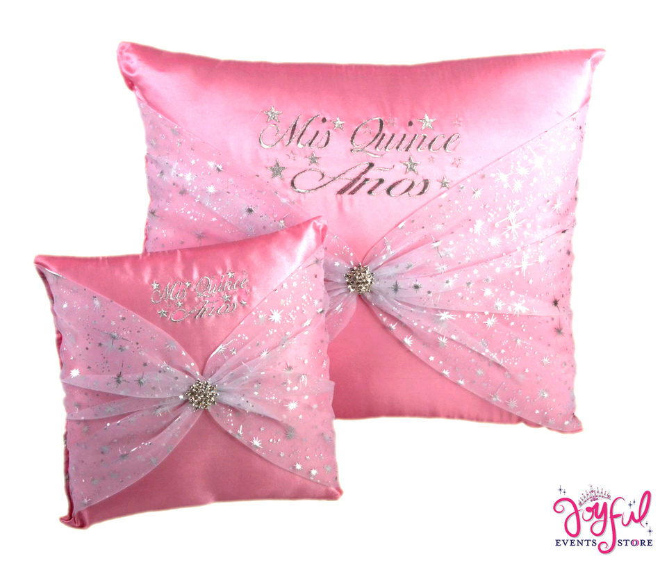 Star Quinceanera Kneeling, Slipper and Tiara Pillows  - Two Pillows #PL45