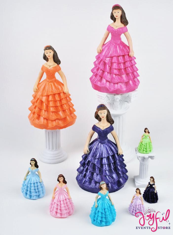 """6.5"""" Quinceanera Figurines - 1 Dozen #FIGL10"""
