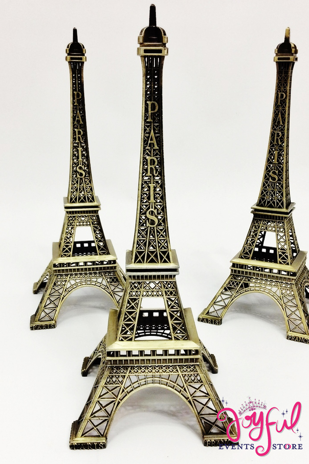 "10"" Bronze Color Metal Eiffel Tower - One #MTTE11"