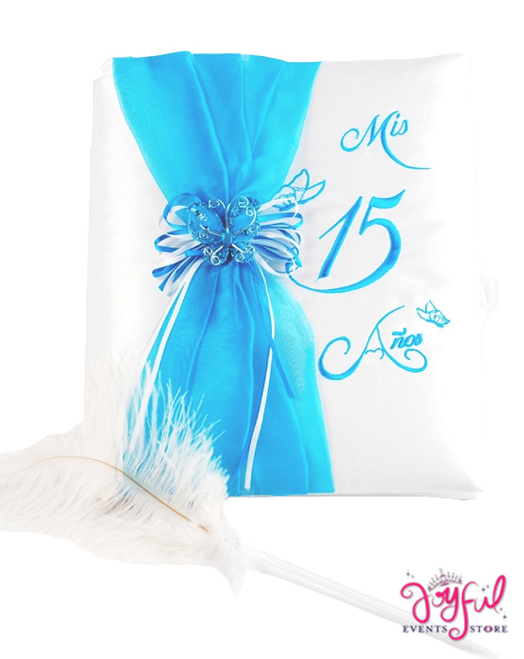 """12"""" Quinceanera Butterfly Guest Book #GBCOR"""