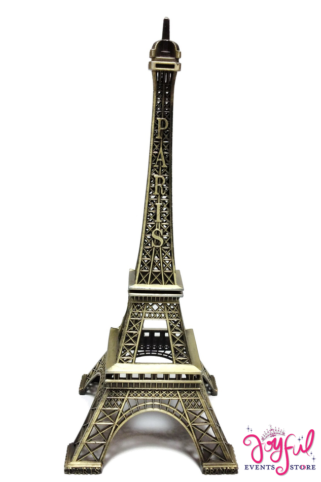 "15"" Bronze Color Metal Eiffel Tower - One #MTTE15"