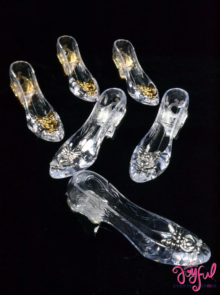 "3.5"" Acrylic Plastic Slipper - One Dozen #PSL2"