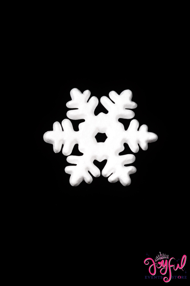 "5 1/2"" Eps Foam Snow Flake - One Dozen #SFL2"