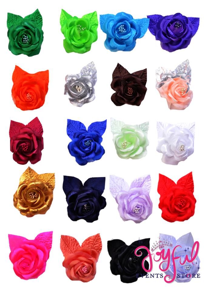 """2.5"""" Single Rose Flowers - 12 Flowers #FL1"""