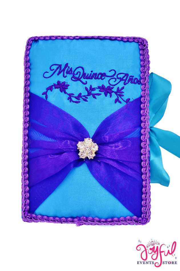 """7"""" Quinceanera Bible with Floral Design - #BB69"""
