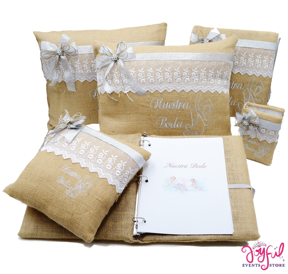 Wedding Accessories Pillows, Photo Album, Guest Book and Bible #QSET55