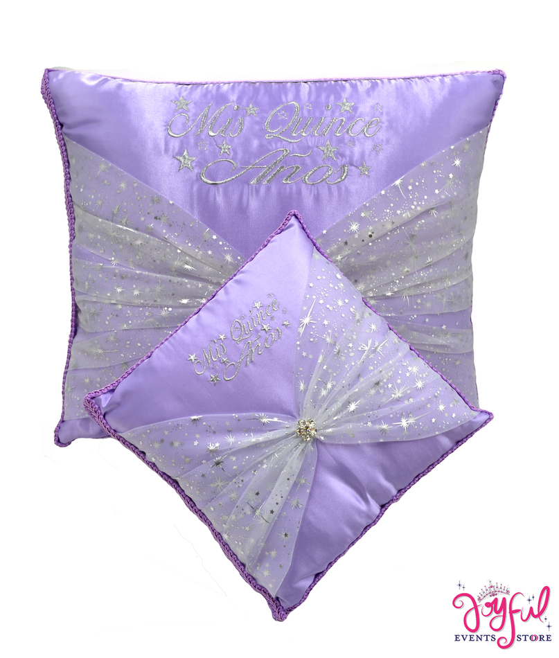 Star Quinceanera Kneeling, Slipper and Tiara Pillows  - Two Pillows #PL45PR