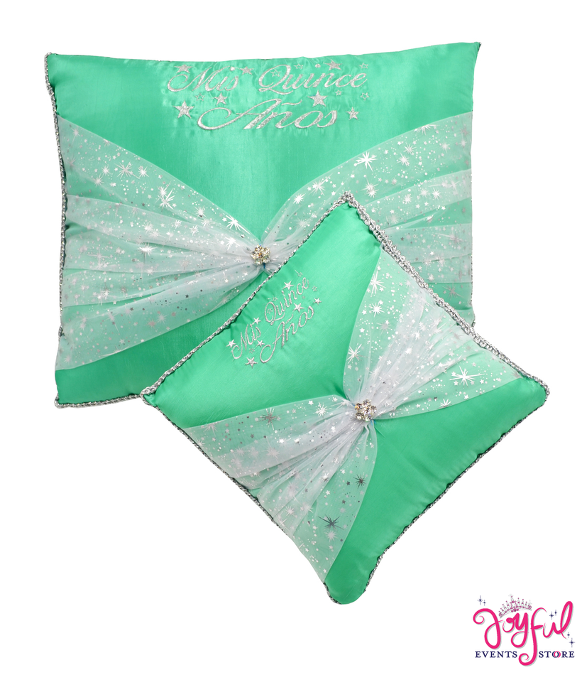 Stars Quinceanera  Kneeling, Slipper and Tiara Pillows - Two Pillows #PL45MT