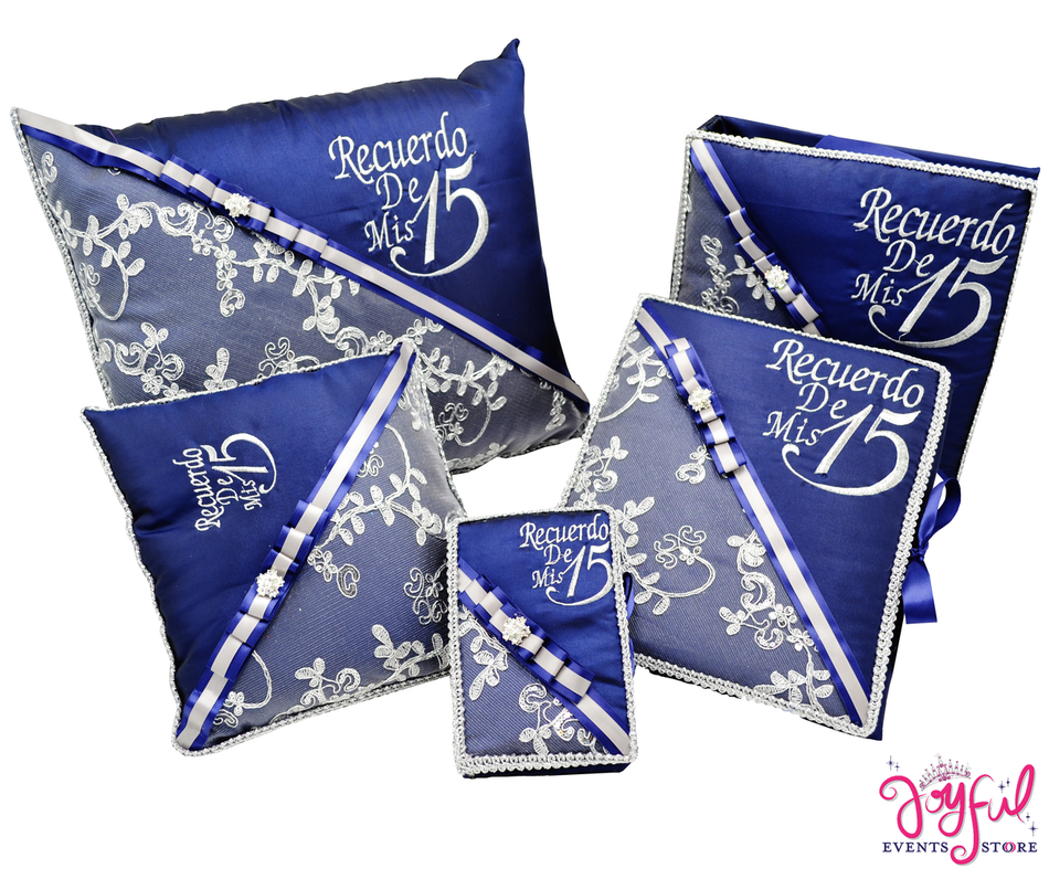 Royal Quinceanera Accessories Pillows, Photo Album, Guest Book and Bible #QSET32RB