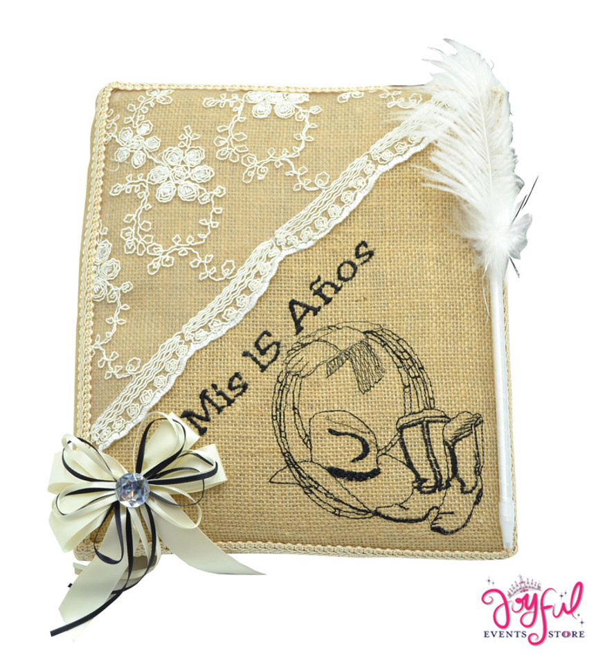 "12"" Quinceanera Guest Book #GB57"