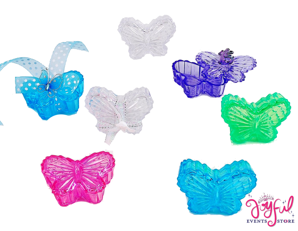"2.5"" Plastic Butterfly Box - One Dozen #PLBF1"