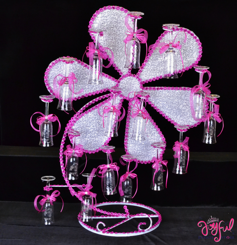 "35"" Flower Toasting Set #TS54"