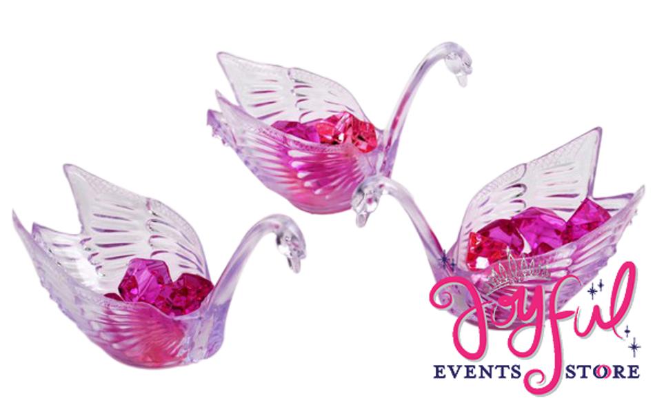 "4"" Plastic Swans - 1 Dozen #SWN"