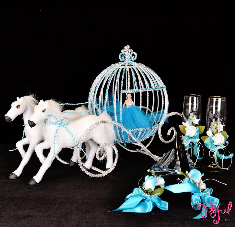 "15"" Sparkly Cinderella Toasting Set #TS60"
