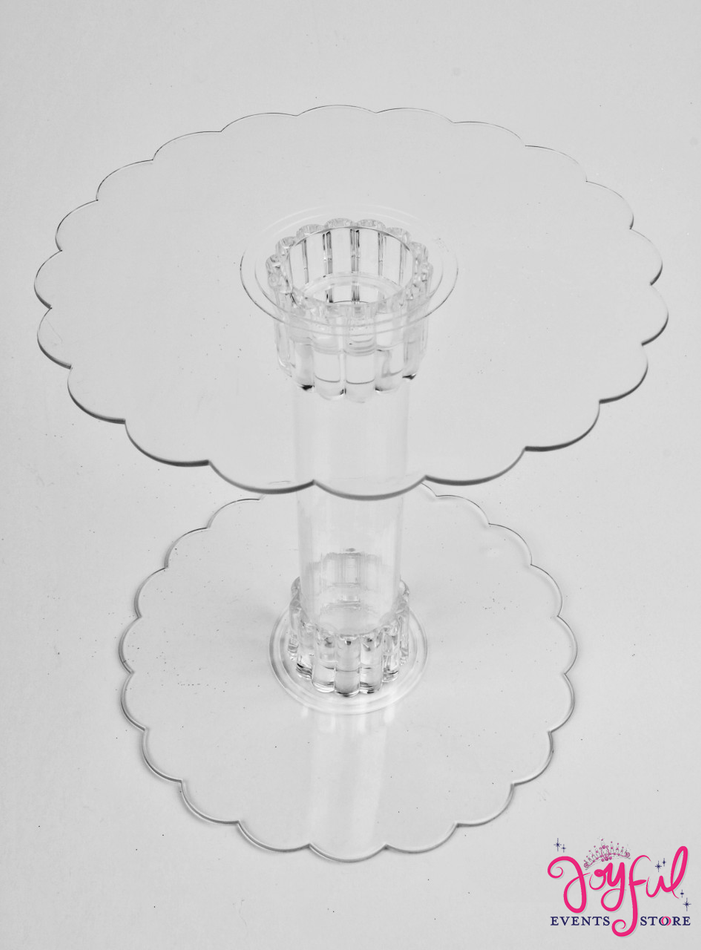 """6"""" Clear Plastic Round Base - One #RCB2S"""