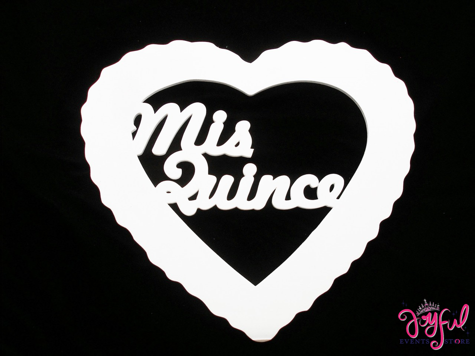 """20"""" Mis Quince Foam Sign - One #HRT15"""