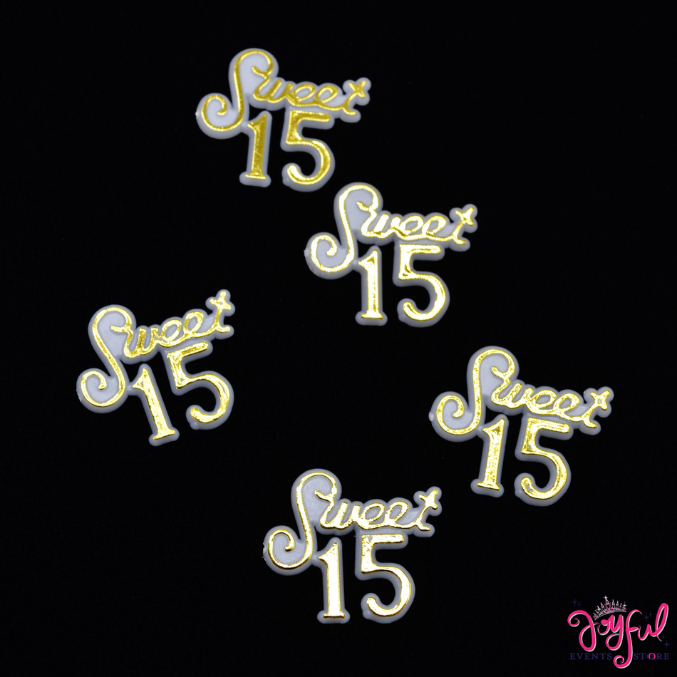 """1 1/8"""" - """"Sweet 15"""" Sign - 12 Signs #S212"""