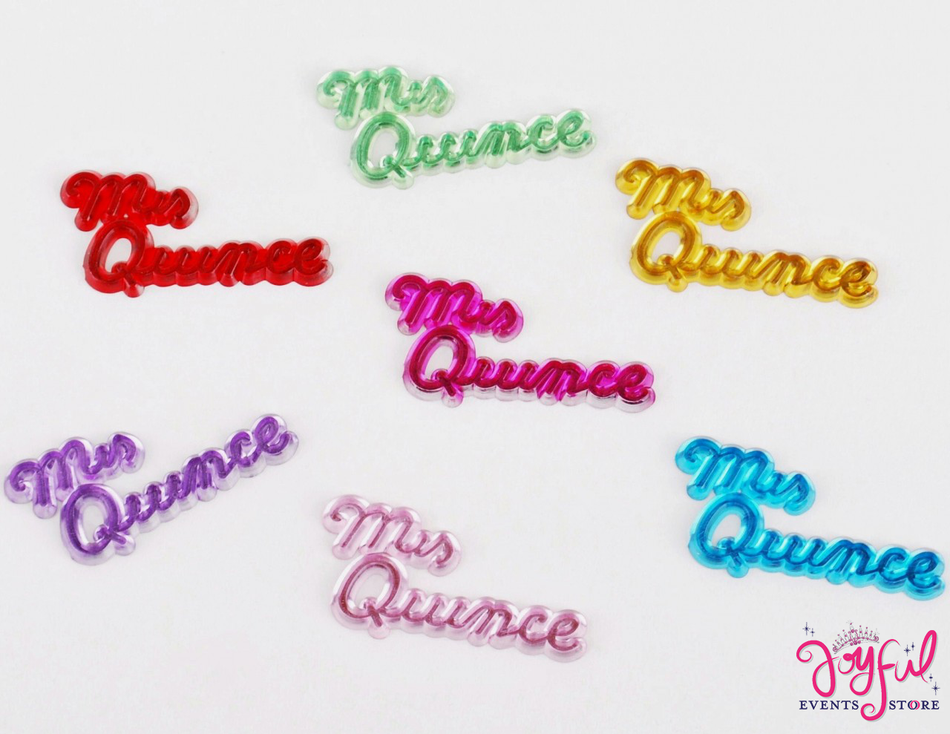 """1 1/2"""" """"Mis Quince"""" Colorful Signs - 24 Signs #S18"""