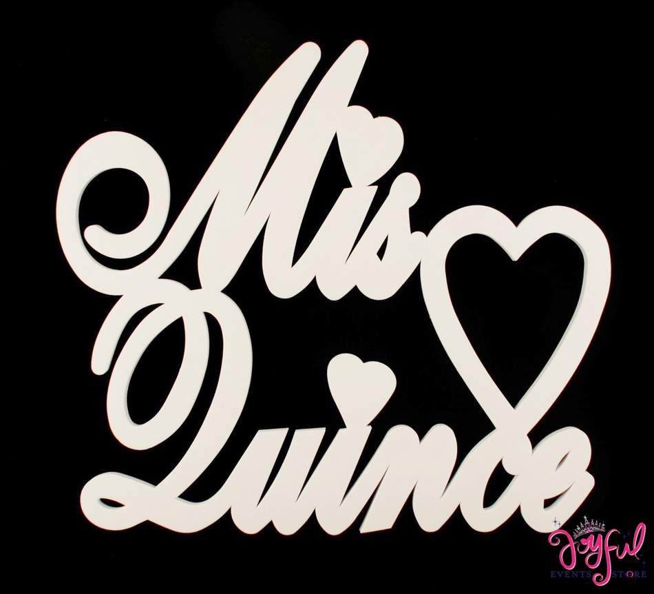 "20"" Foam Mis Quince Sign - One #SIGN20"