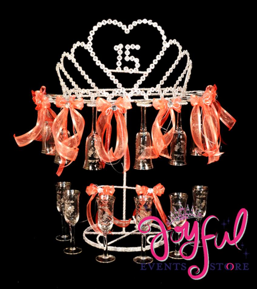 "31"" 15 Años Tiara Toasting Set #TS74"