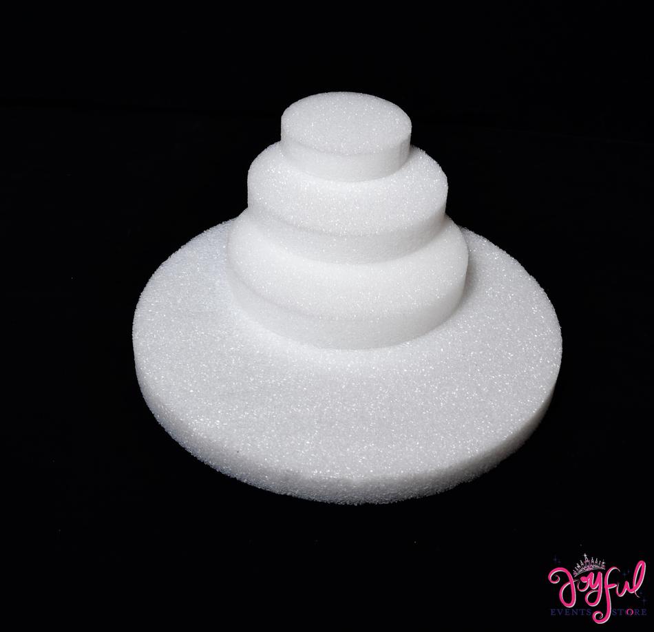 "5""  x 1"" Round Flat Circle Styrofoam Craft Discs - 1 Dozen #STFM5"
