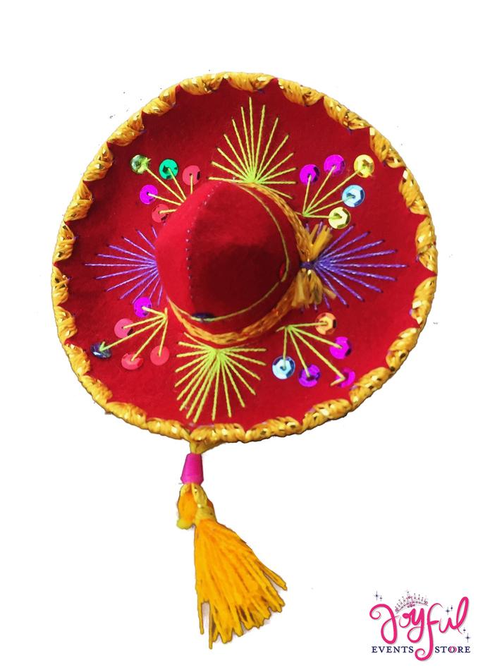 "5"" Mini Charro Red Hat #HAT6JE"