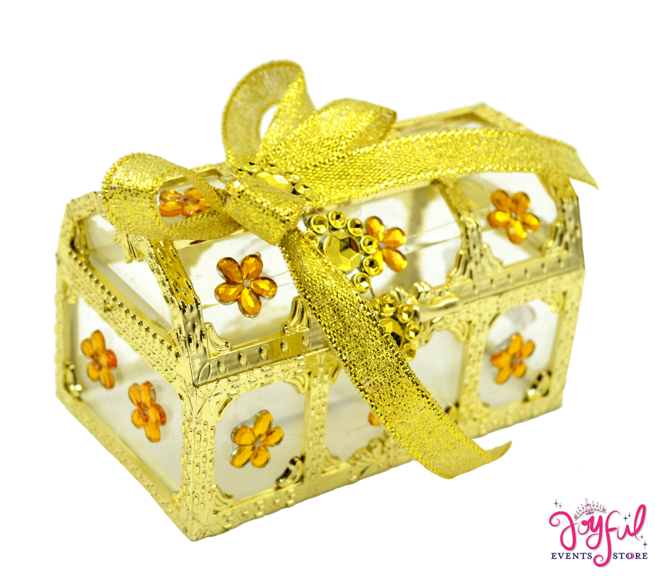 "3.5"" x 2.5"" Decorated Plastic Party Favor Box #PFB12JE"