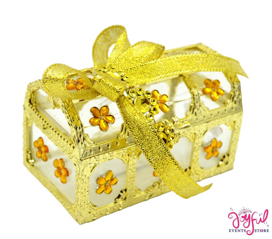 "3.5"" x 2.5"" Decorated Plastic Party Favor Box #PFB12JE"