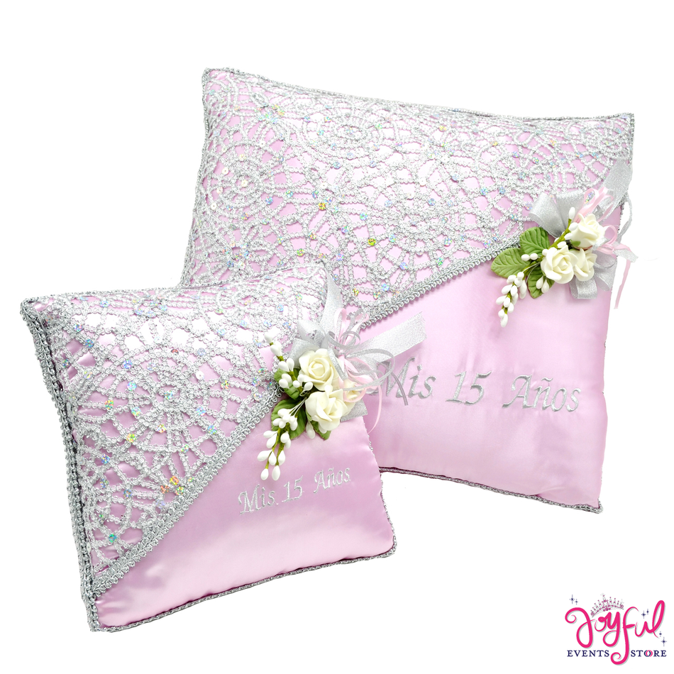 Quinceanera  Kneeling, Slipper and Tiara Pillows  - Two Pillows #CU3PKJE