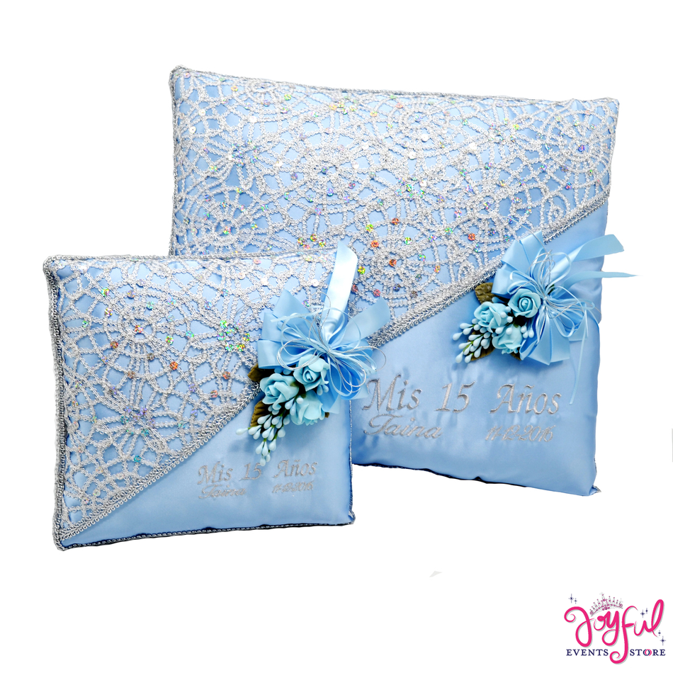 Quinceanera  Kneeling, Slipper and Tiara Pillows  - Two Pillows #CU3BLJE