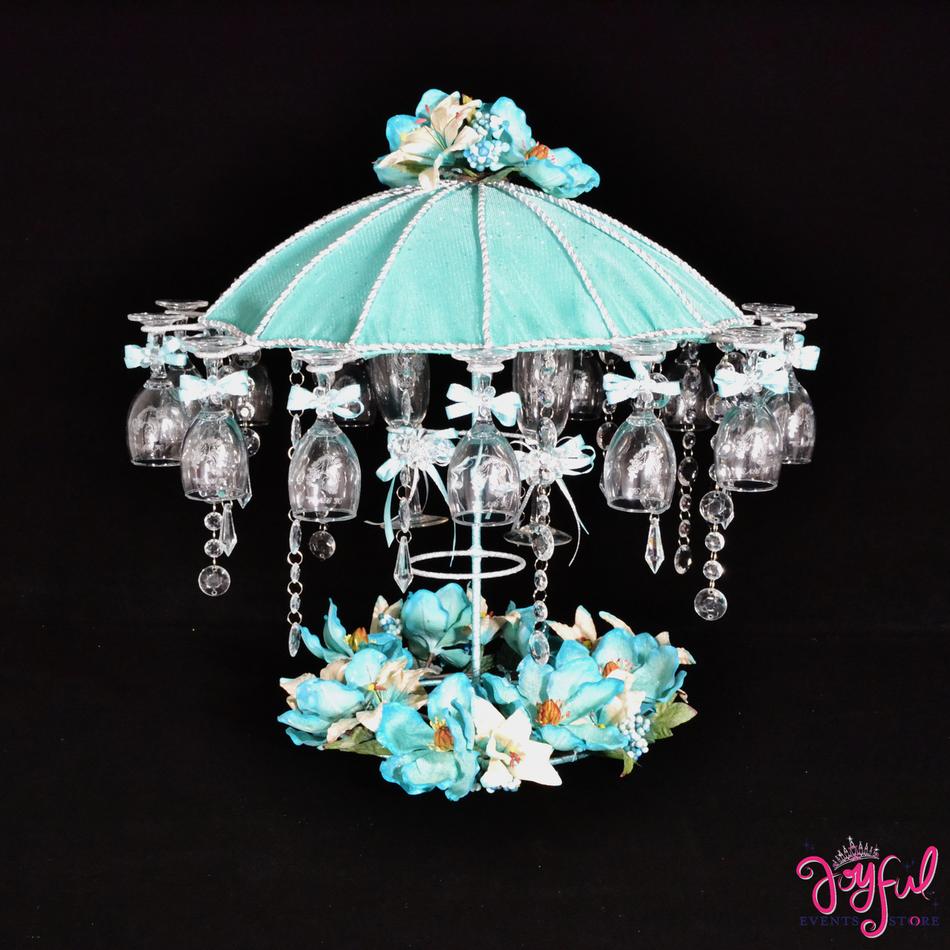 "19"" Vintage Umbrella Toasting Set with Glasses #TS79"
