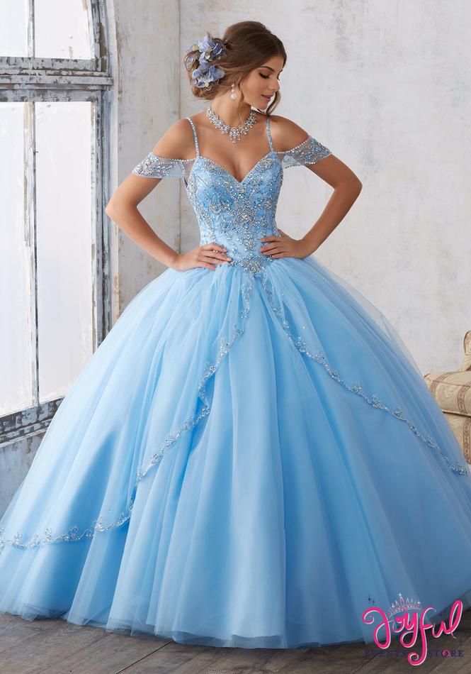 Mori Lee Vizcaya Bahama Blue Quinceanera Dress Style 89135