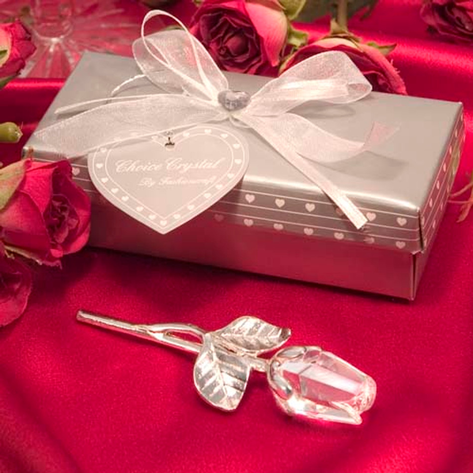 "3.5"" Choice Crystal Long Stem Rose - One #2202 (Qty. discount available)"