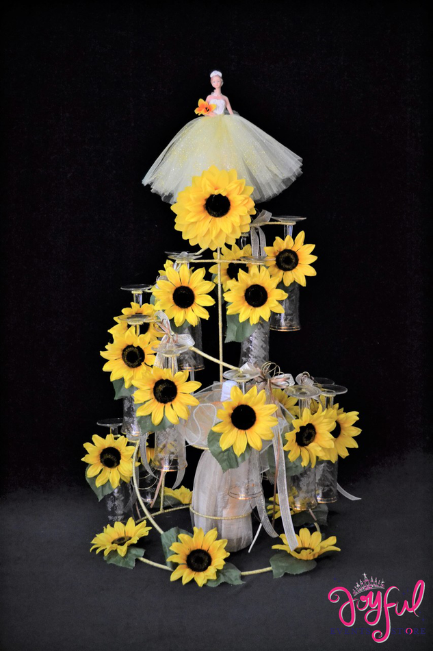 "35"" Sunflowers Quinceanera Toasting Set #TS93"