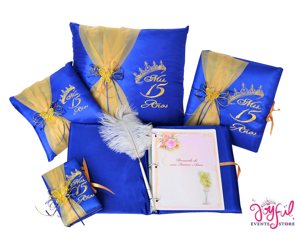 Quinceanera Accessories Pillows, Photo Album, Guest Book and Bible #QSET76