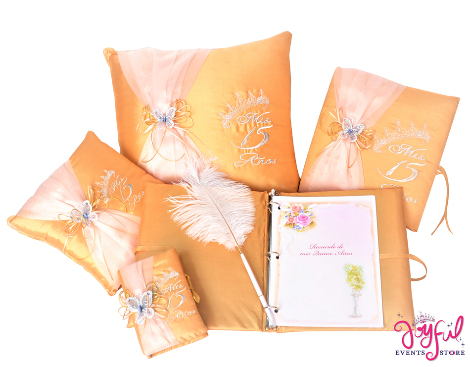 Quinceanera Accessories Pillows, Photo Album, Guest Book and Bible #QSET74