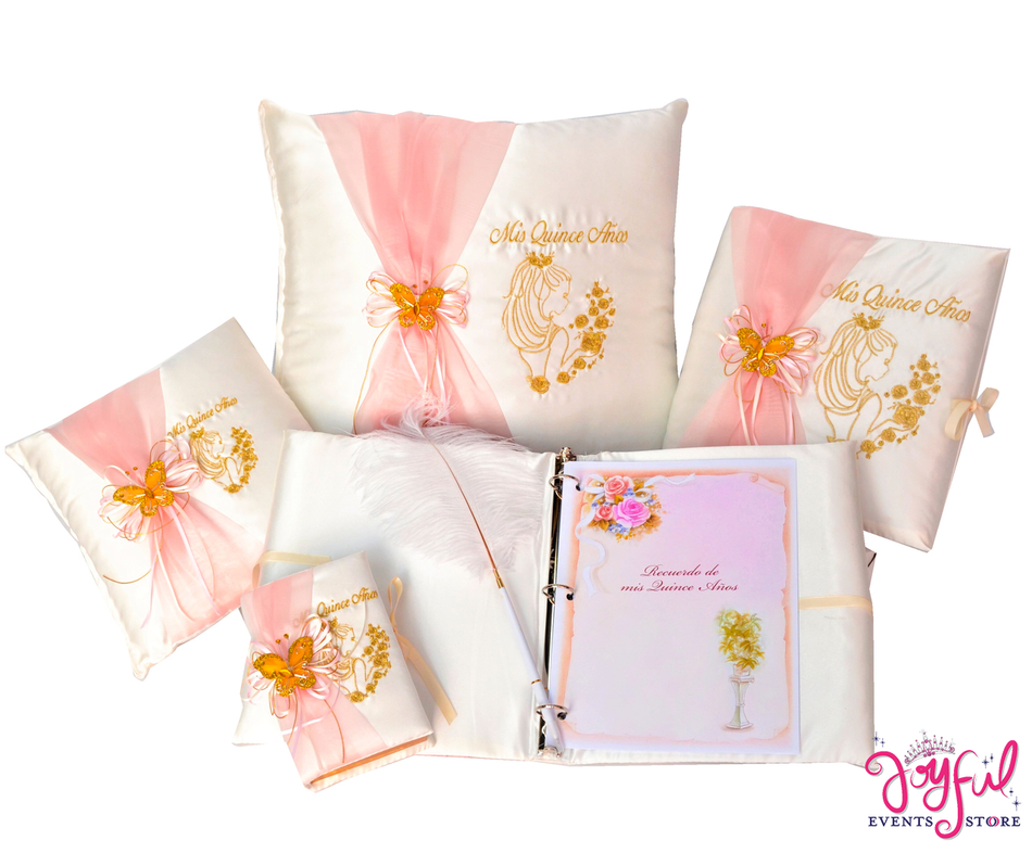 Quinceanera Accessories Pillows, Photo Album, Guest Book and Bible #QSET80