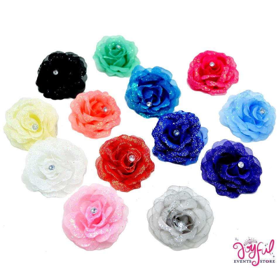 """2.5"""" Shimmering Single Rose - One Dozen #FL30"""